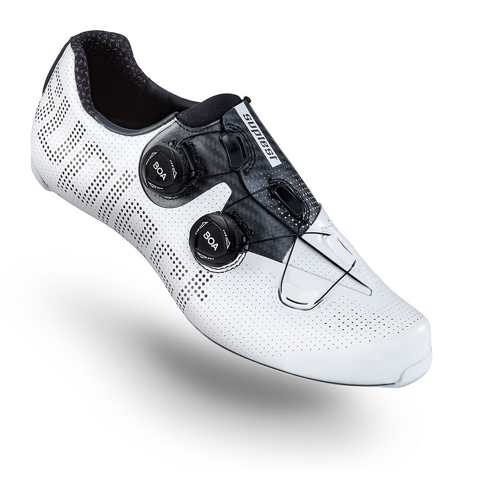 Image of Suplest Edge+ Road Pro Carbon Shoes 2020 - White-Black - EU 39, White-Black