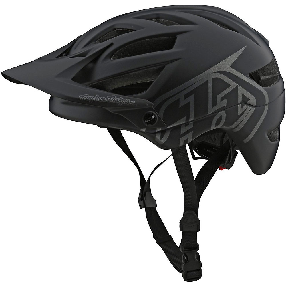 Troy Lee Designs Youth A1 Drone Helmet  - Negro-Plata - One Size, Negro-Plata