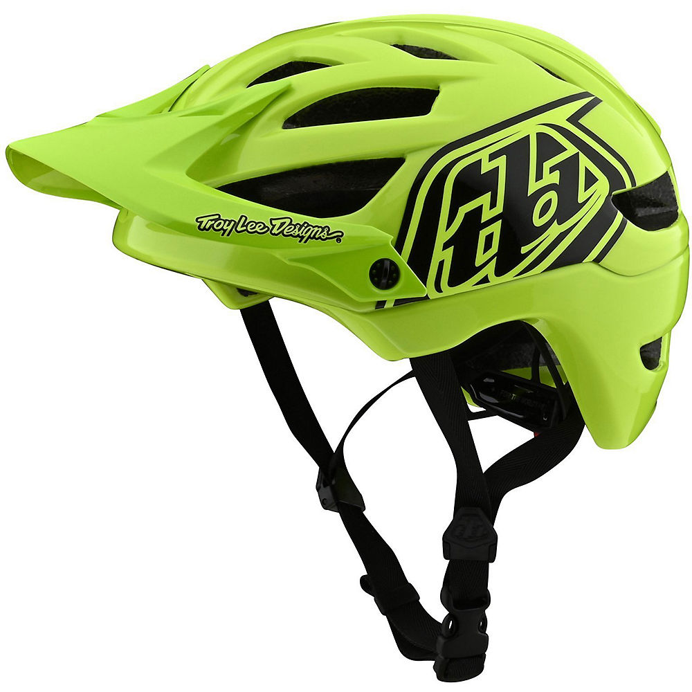Troy Lee Designs Youth A1 Drone Helmet  - Flo Yellow-Black - One Size, Flo Yellow-Black