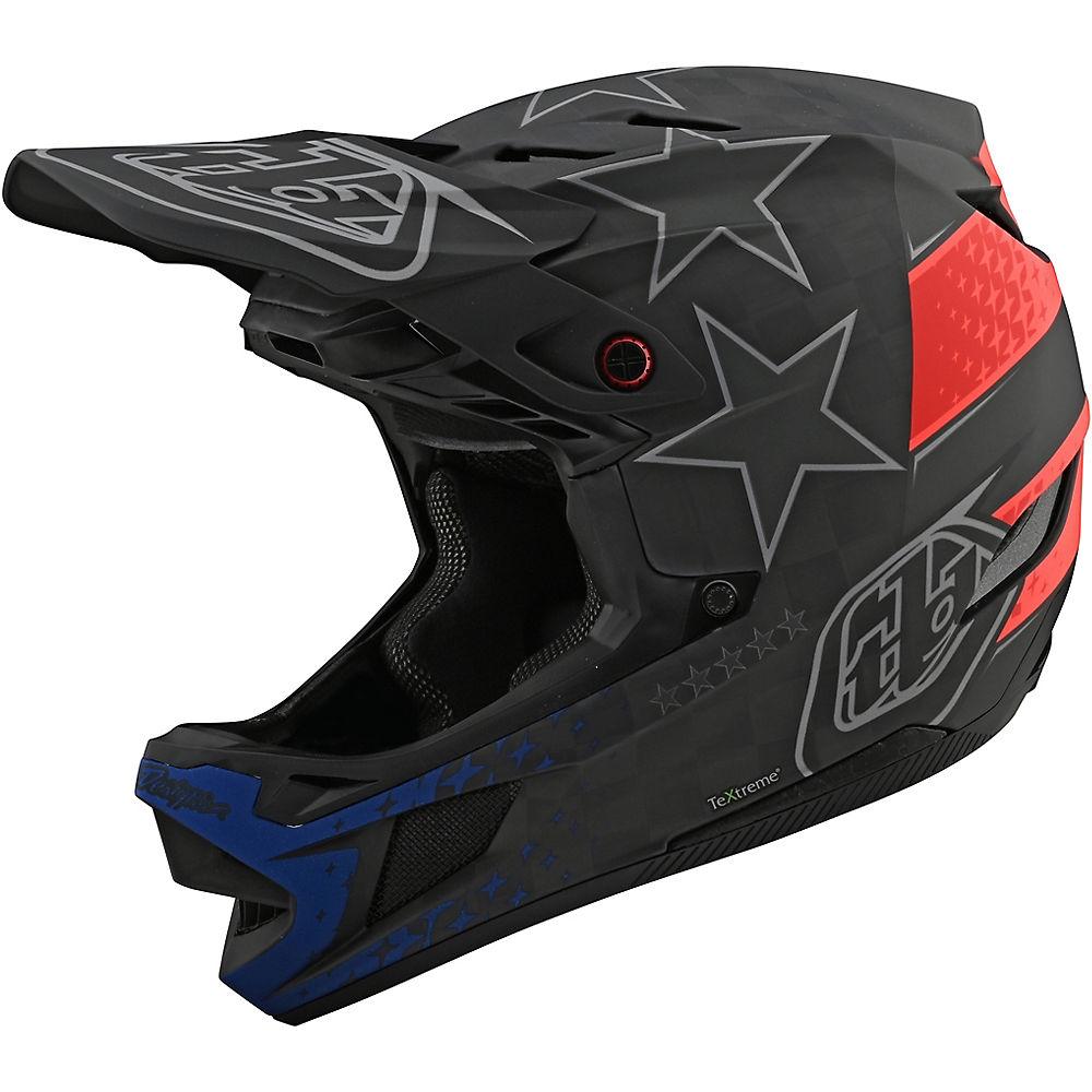 Troy Lee Designs D4 Carbon Freedom 2.0 Helmet  - Negro/Rojo, Negro/Rojo