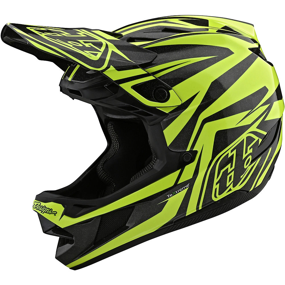 Troy Lee Designs D4 Carbon Slash Helmet  - Negro/Amarillo, Negro/Amarillo