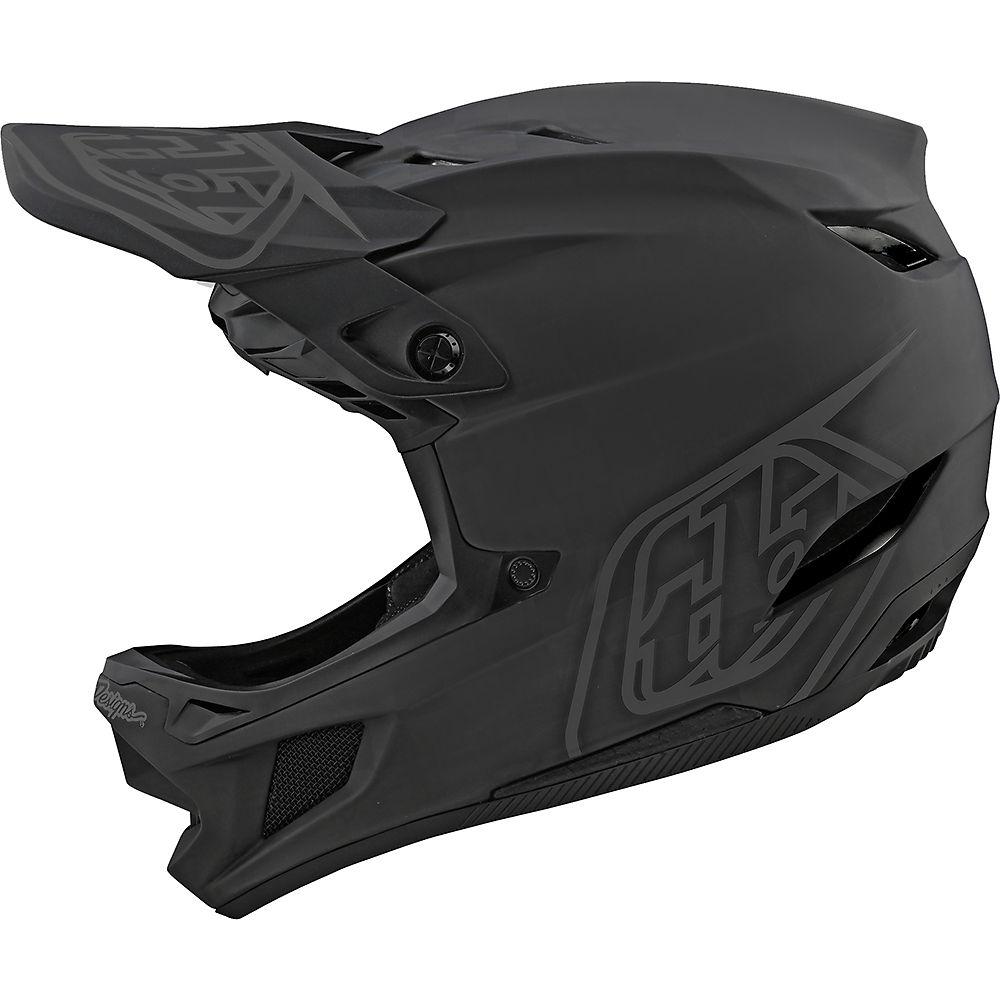 troy lee designs d4 composite stealth helmet  - xs - black-grey