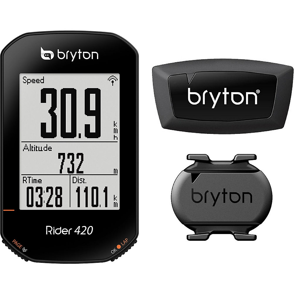 Image of Bryton Rider420E GPS Computer with Cadence HRM - Noir, Noir