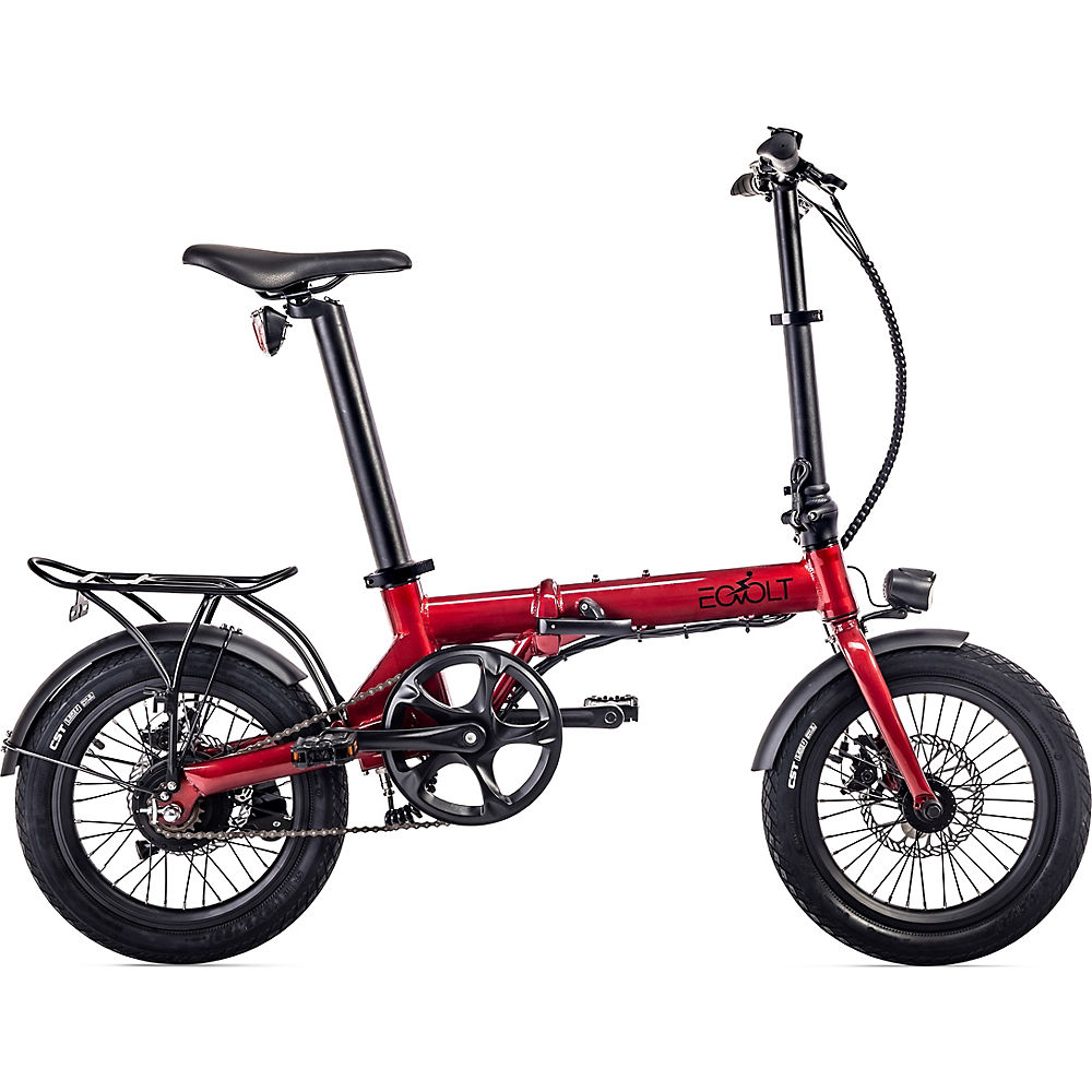 EOVOLT City Lightweight Folding E-Bike 2020 - Red - 16
