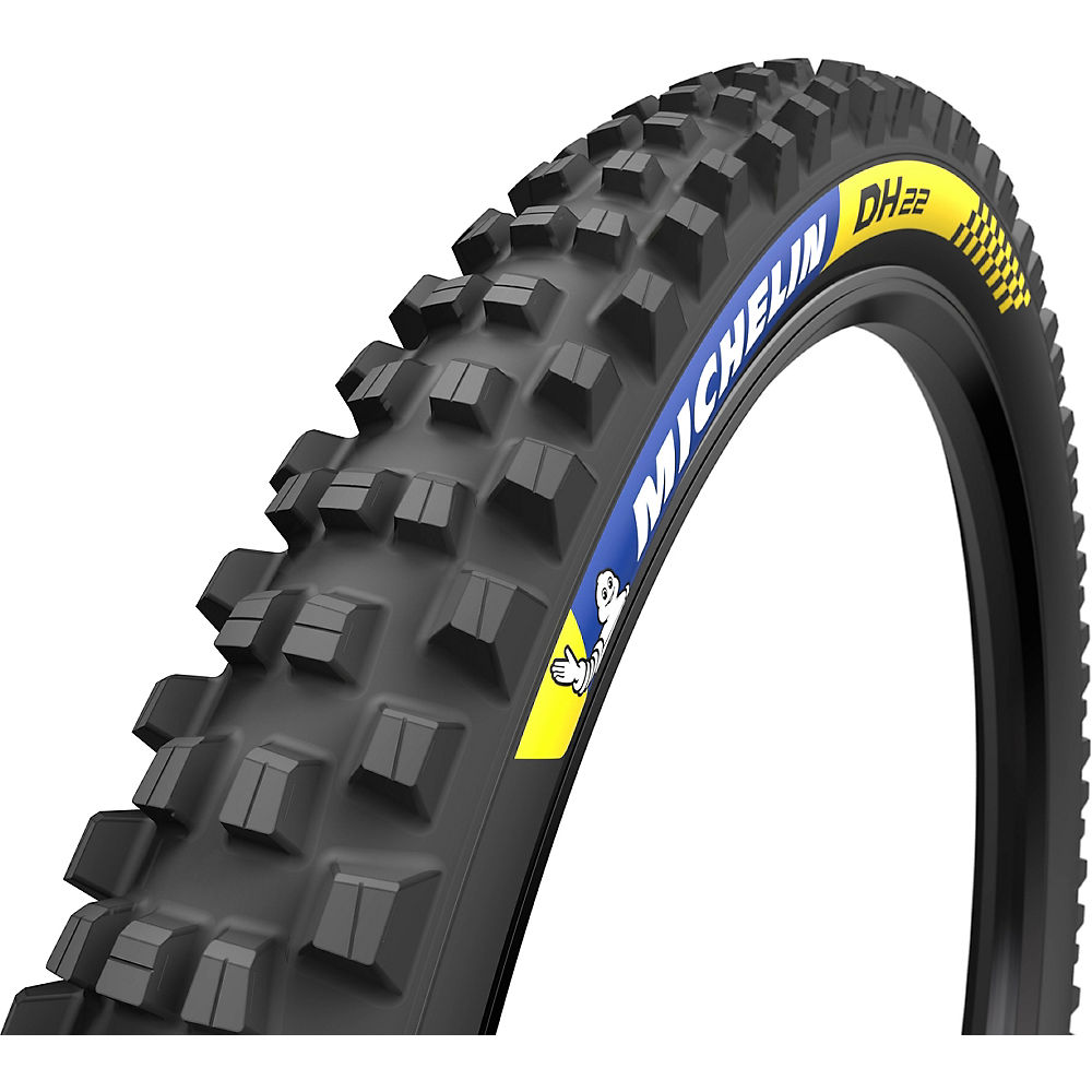 Michelin DH 22 Tubeless Ready Tyre - Black - Wire Bead, Black