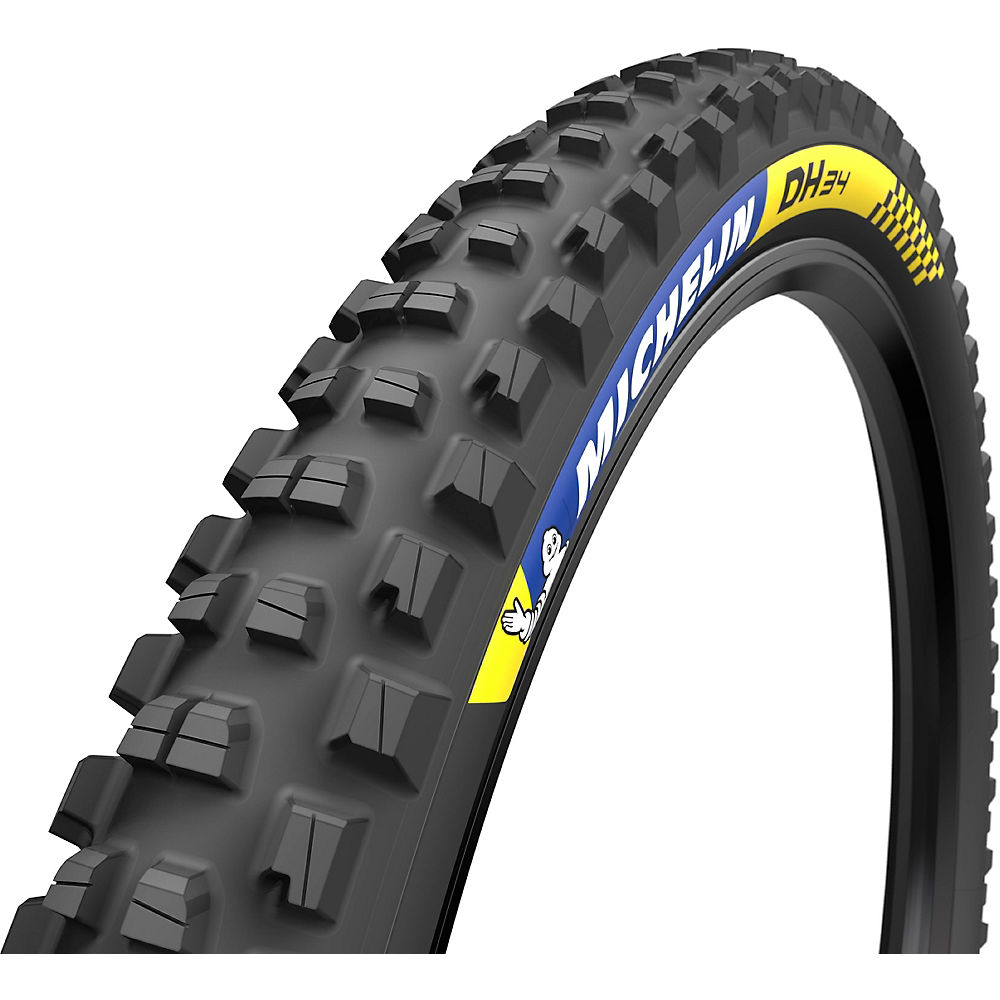 Michelin Downhill 34 Tubeless Ready Tyre - Black - Wire Bead, Black