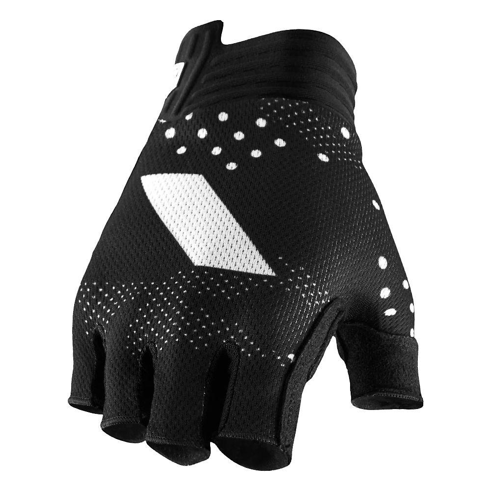 100% Exceeda Gel Womens Short Finger Glove  - Black, Black