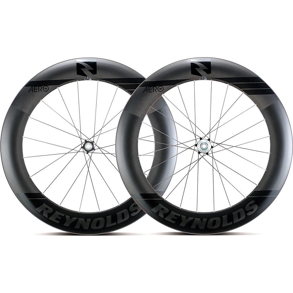 Image of Reynolds Aero 80 Black Label Disc Road Wheelset - Noir - Shimano, Noir
