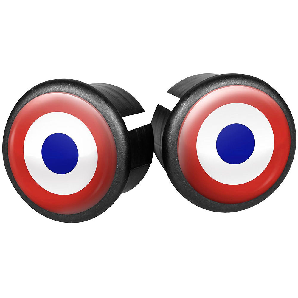 Image of Velox Flag Bar End Plugs - Bullseye, Bullseye