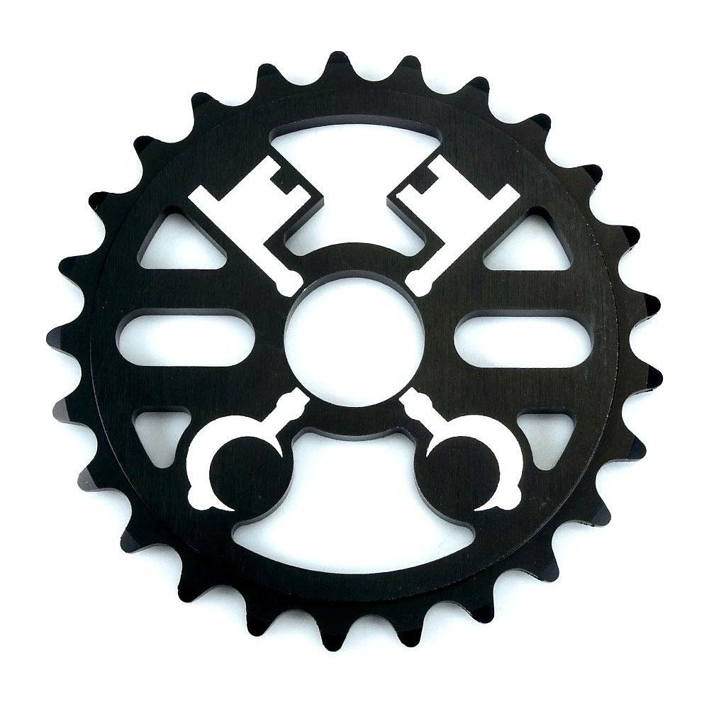 Image of Cryptic Cross Keys BMX Sprocket - Noir - 25t, Noir