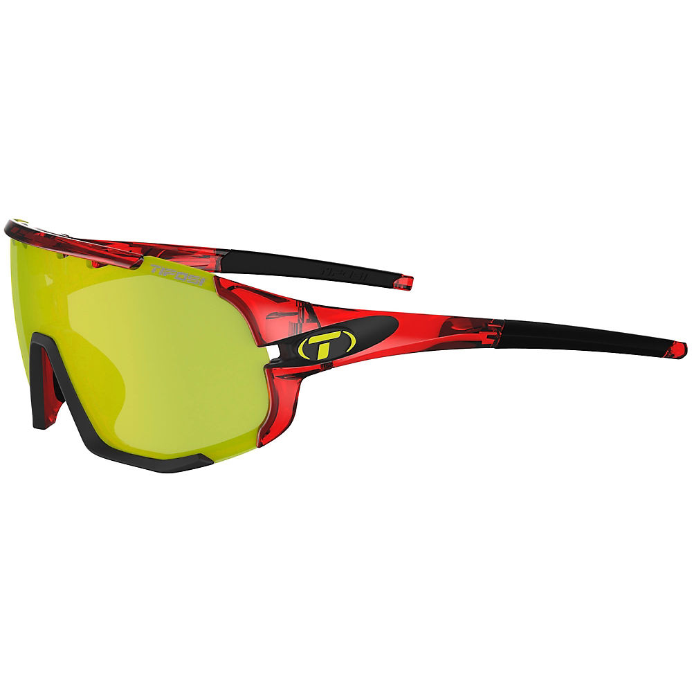 Tifosi Eyewear Sledge Interchangeable Lens Sunglasses - Crystal Red-clarion  Crystal Red-clarion