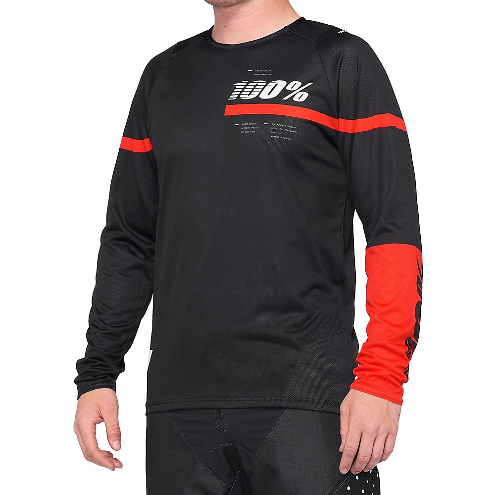 100% R-Core Jersey  - BLACK-RED, BLACK-RED