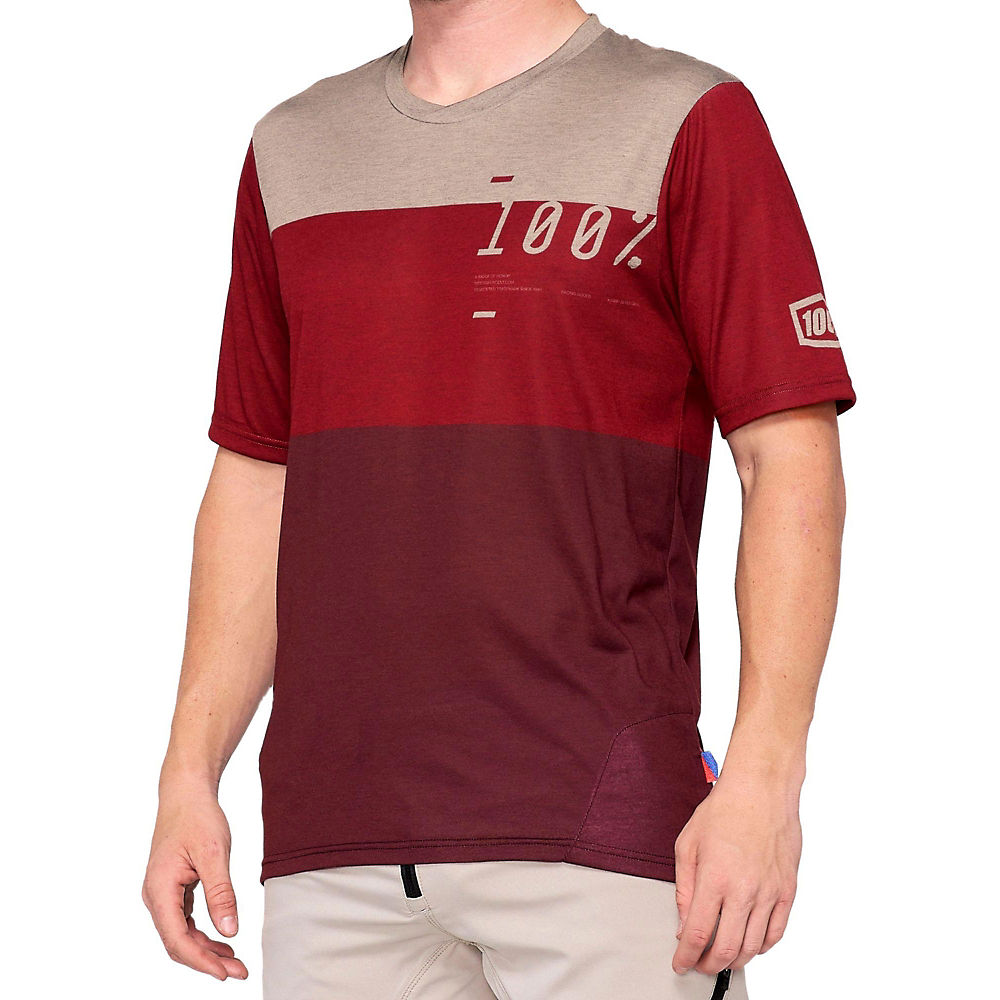 100% Airmatic Jersey  - Maroon-Red - L, Maroon-Red
