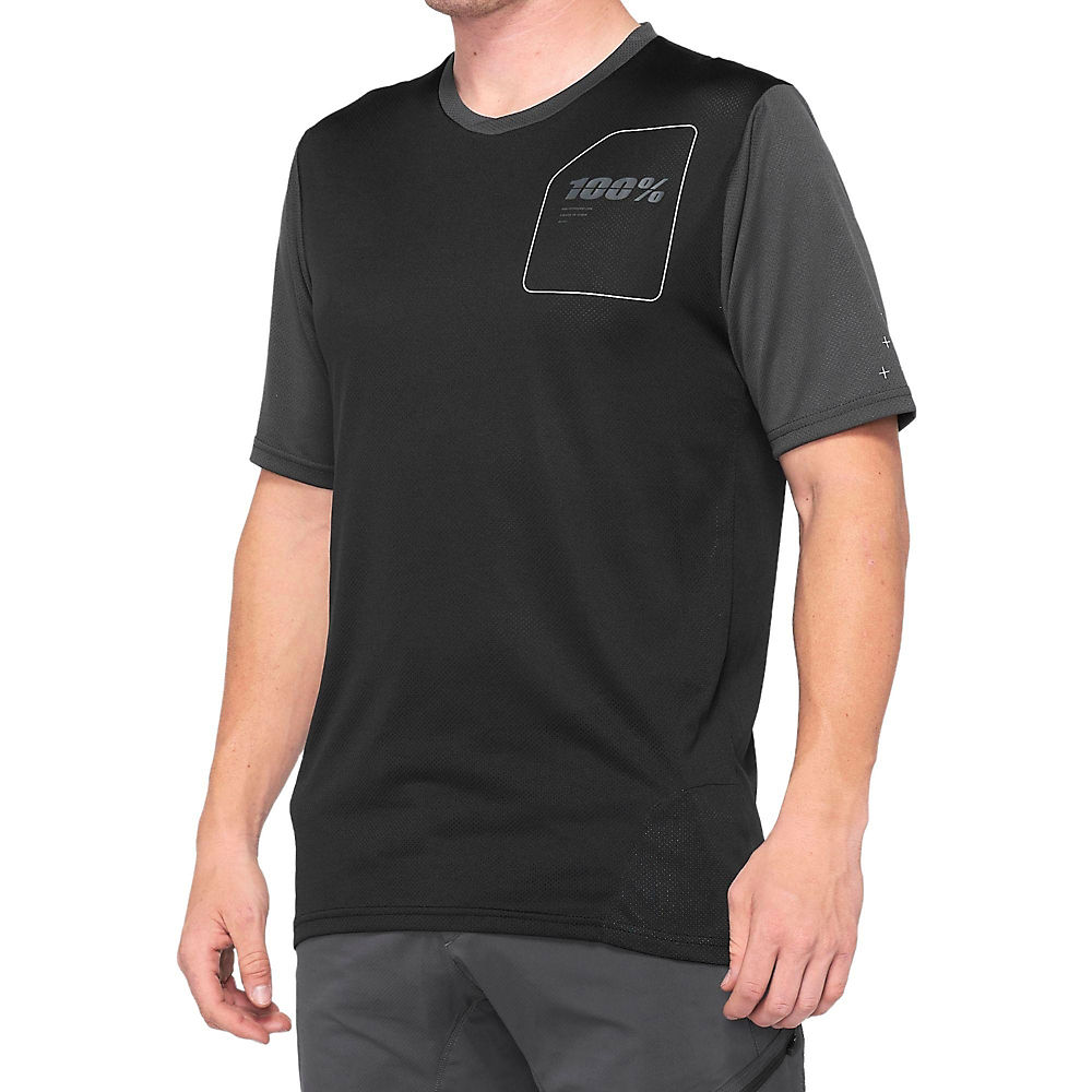 100% Ridecamp Jersey  - Grey-black - Xl  Grey-black