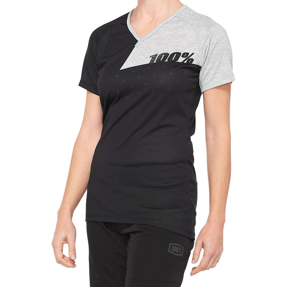 100% Womens Airmatic Jersey  - Black-grey - Xl  Black-grey
