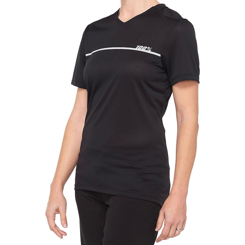 100% Women's Ridecamp Jersey  - Black-Grey, Black-Grey