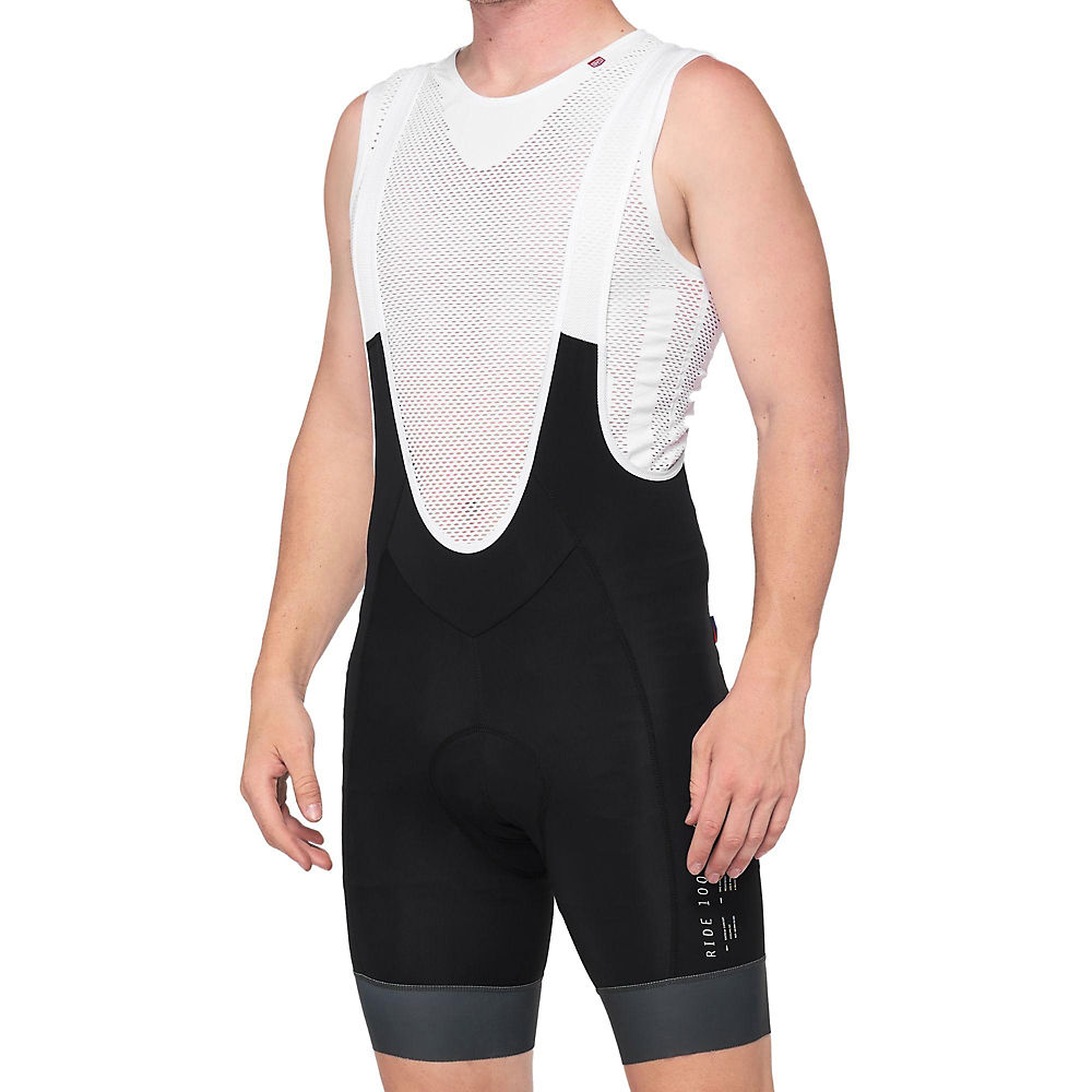 100% Exceeda Bib Shorts  - Black-grey  Black-grey