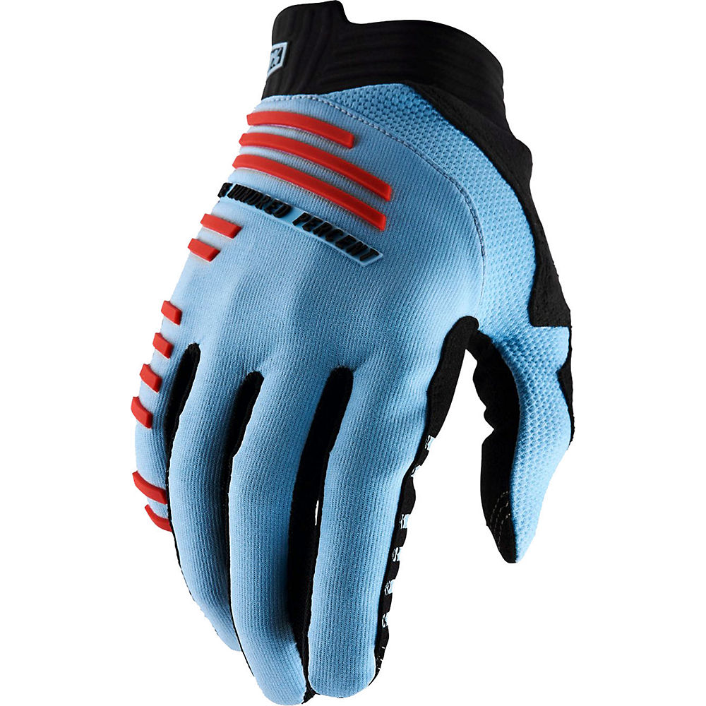 100% R-Core Gloves  - Light Blue - Fluo Red - XL, Light Blue - Fluo Red