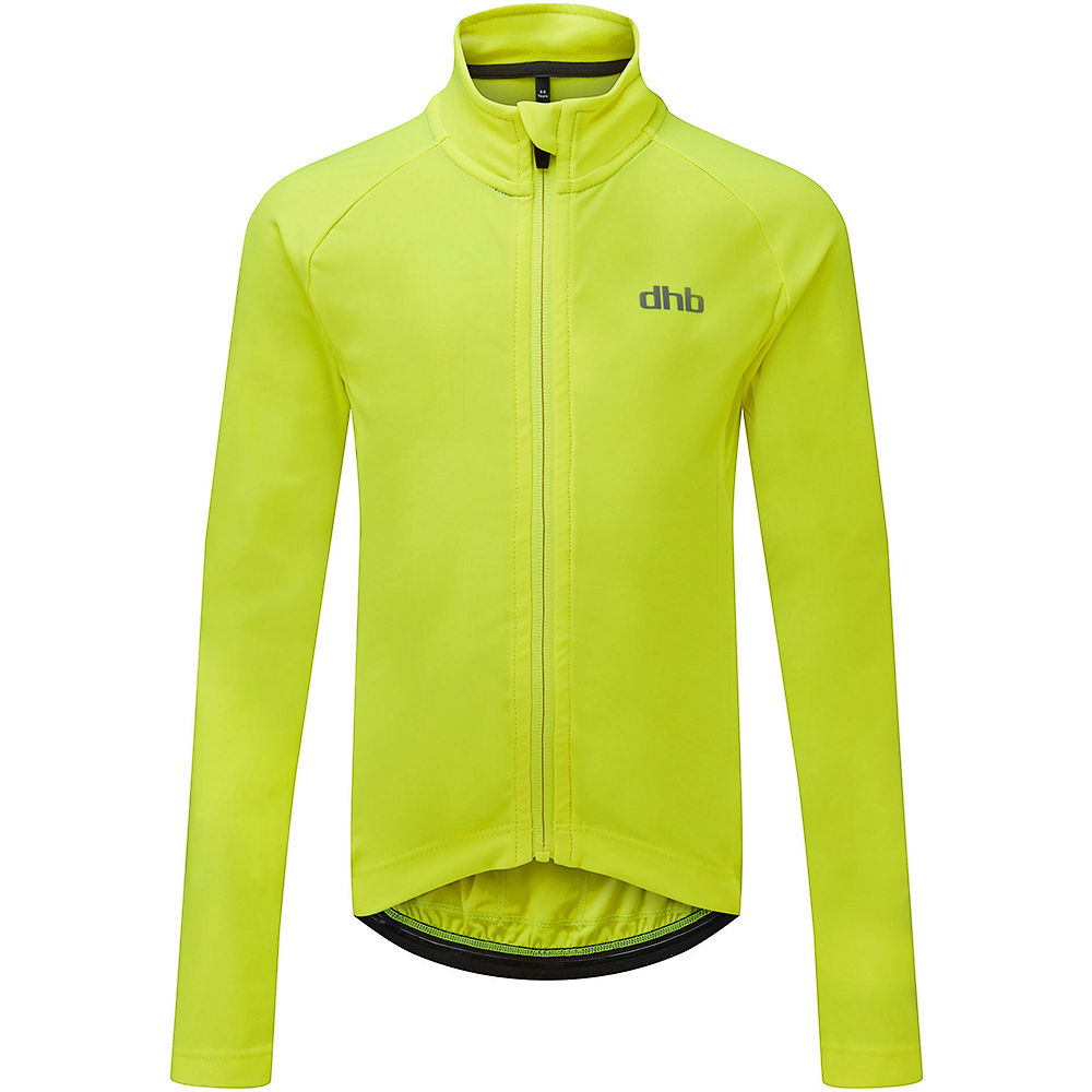 dhb Kids Long Sleeve Jersey - Fluro Yellow - 6-7 Years, Fluro Yellow