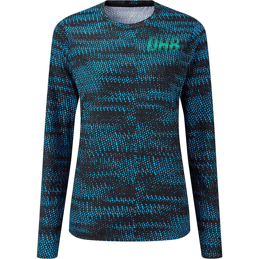 dhb MTB Women's LS Trail Jersey -Glitch  - Blue-Pink - UK 12, Blue-Pink