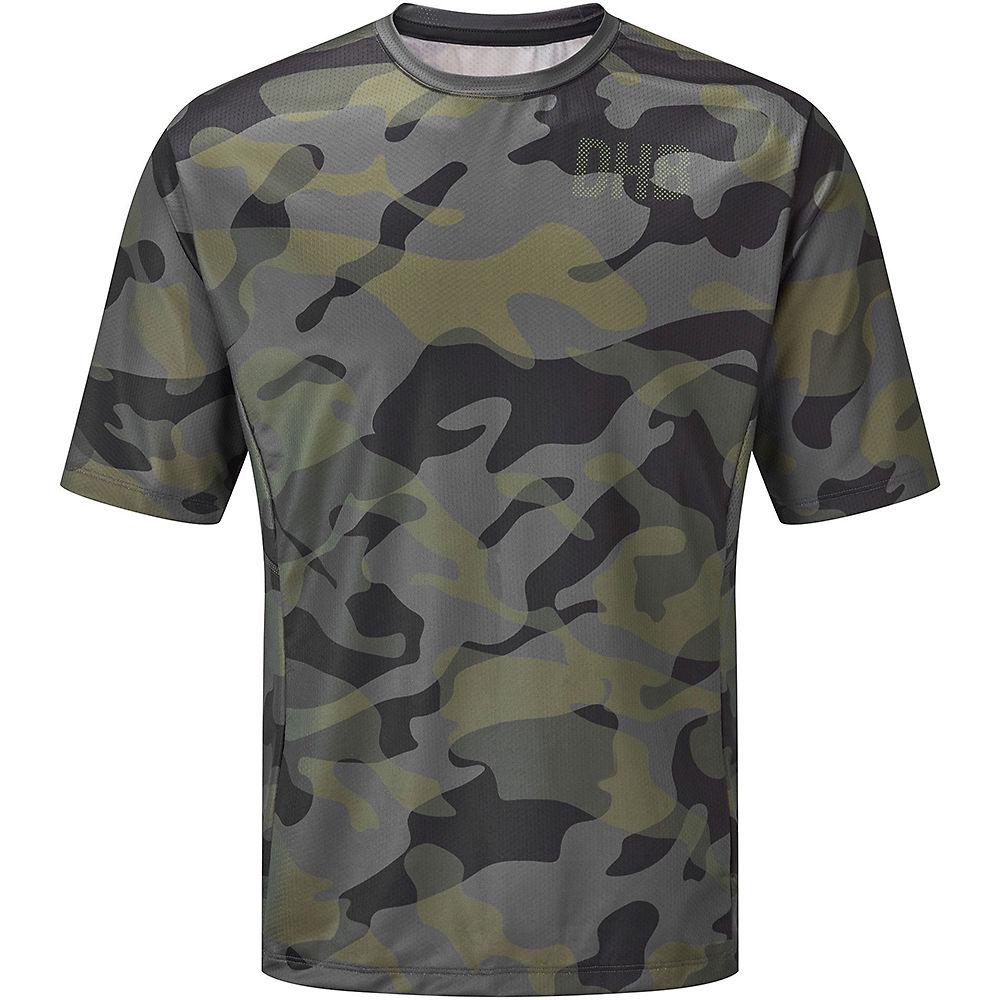 Dhb Mtb Short Sleeve Trail Jersey - Camo  - Khaki-black  Khaki-black