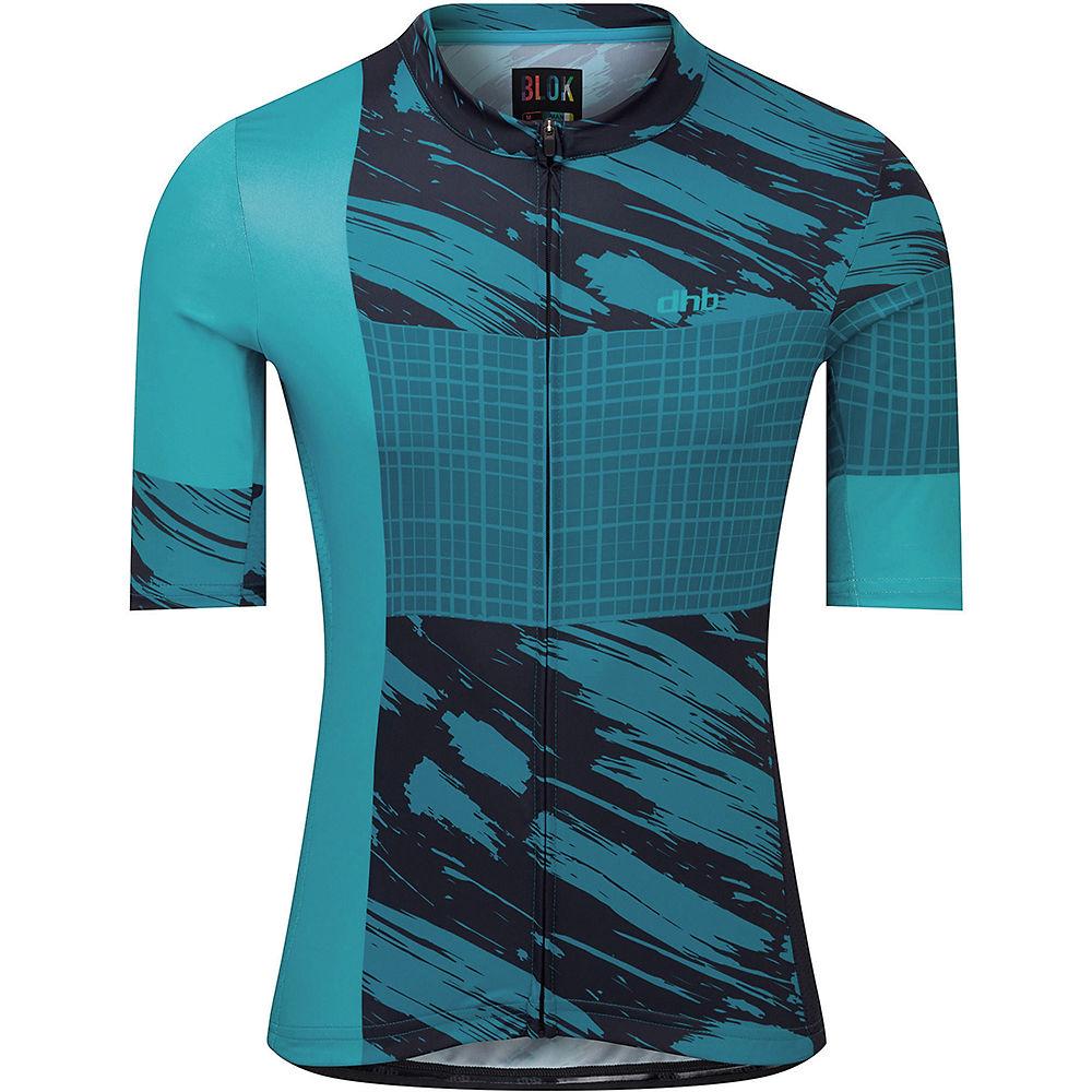 Dhb Blok Short Sleeve Jersey - Clash  - Blue - Xl  Blue