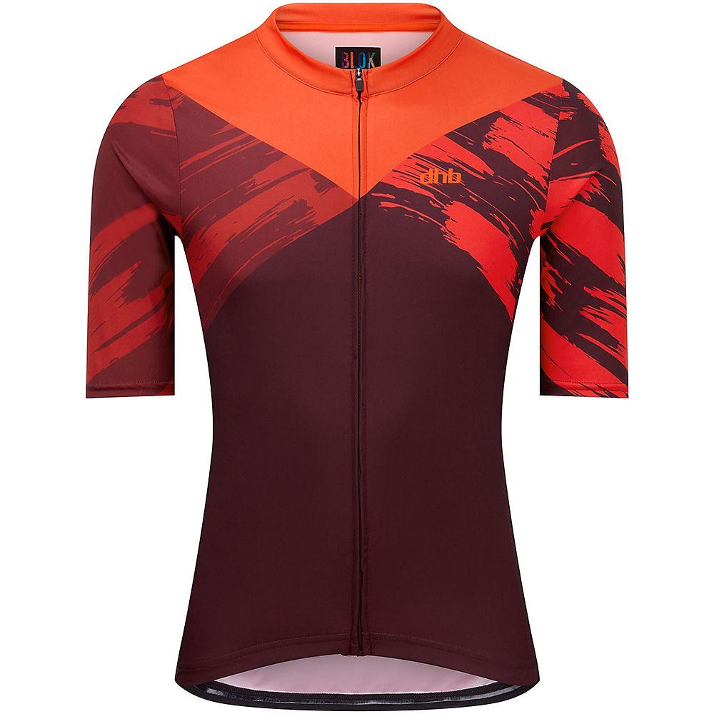 Dhb Blok Short Sleeve Jersey - Stencil  - Red - Dark Red - M  Red - Dark Red