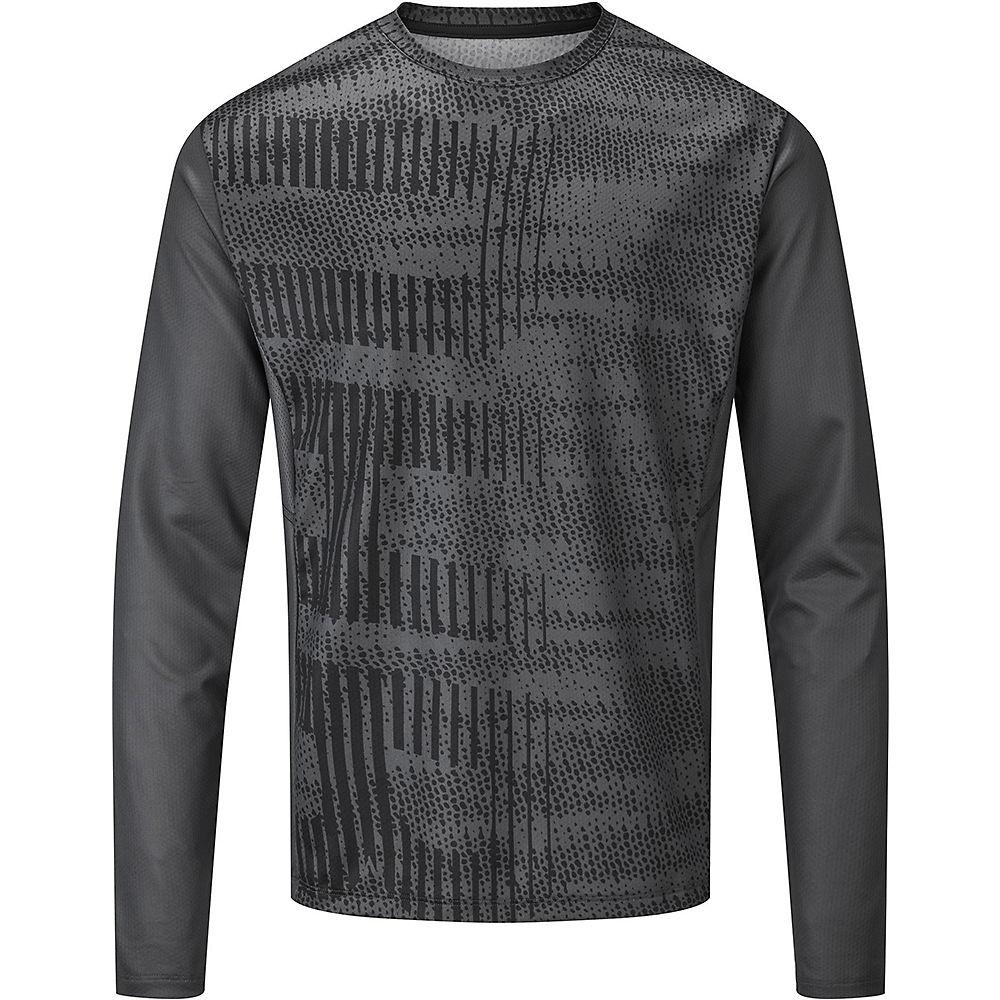 Dhb Mtb Long Sleeve Trail Jersey -glitch  - Grey-black  Grey-black