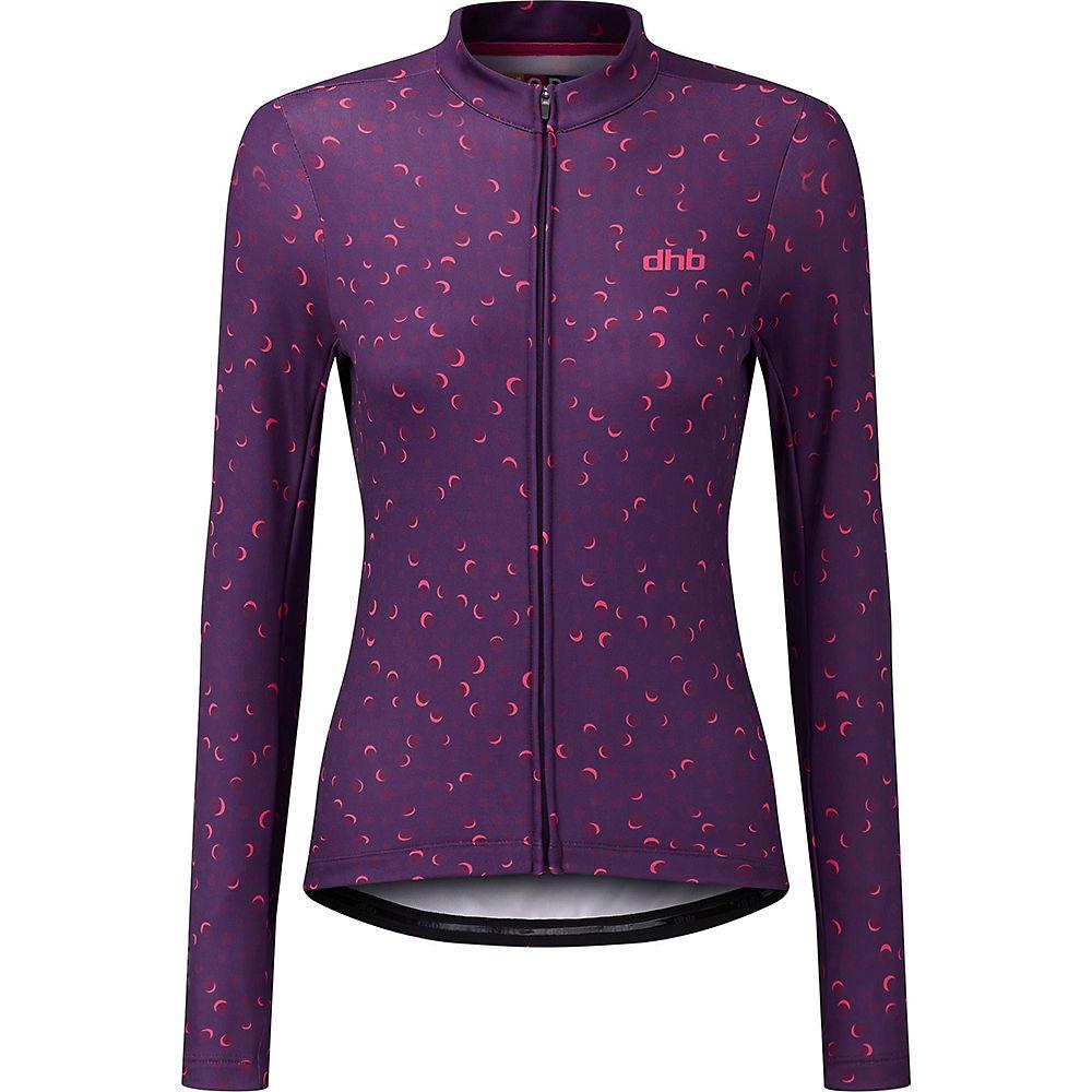 dhb MODA Women's Long Sleeve Jersey - Aster - Purple - UK 6, Purple