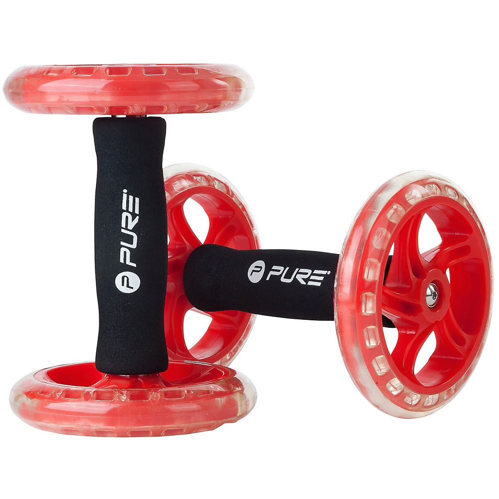 Pure2improve Core Wheels Set - Black - Red  Black - Red