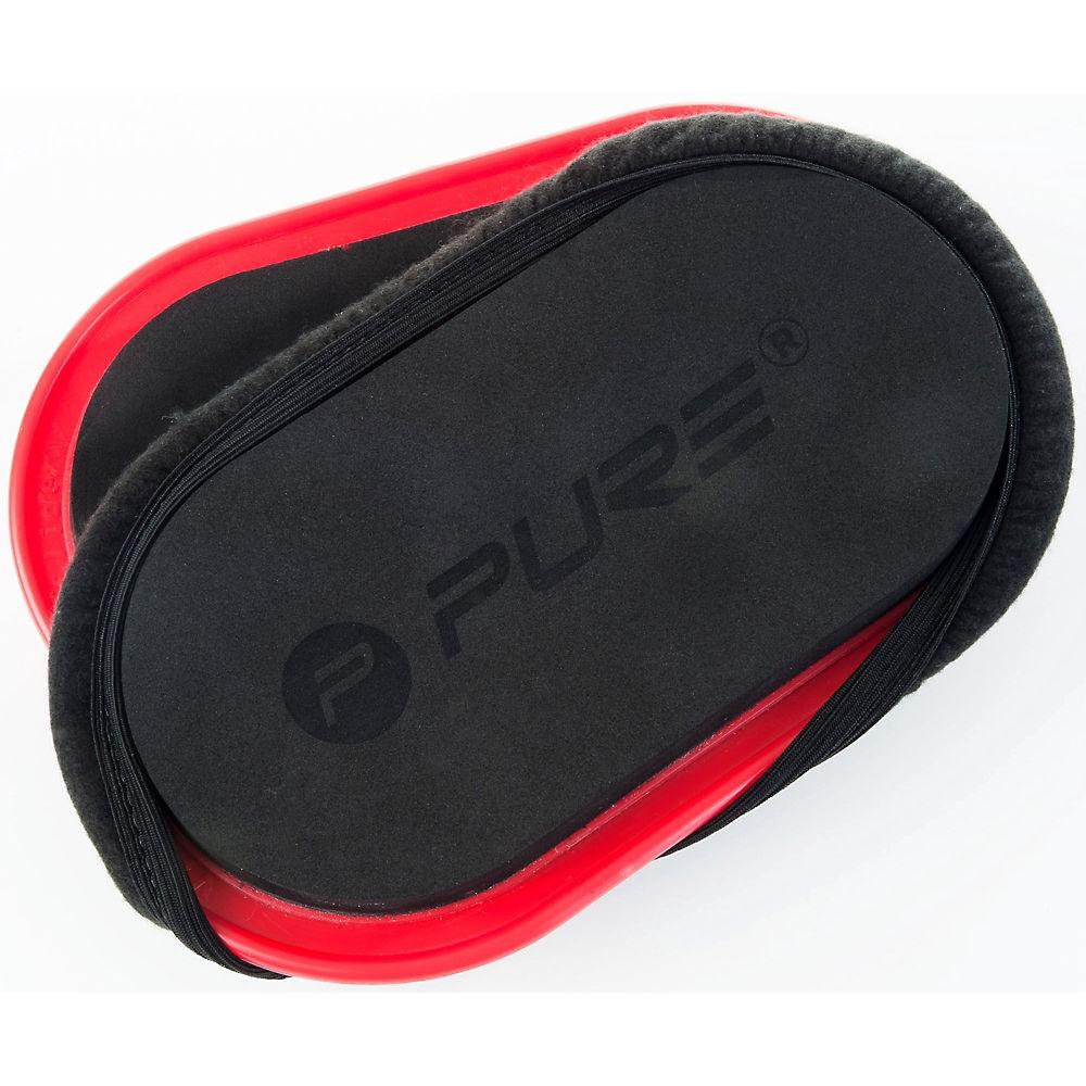 Pure2improve Slide Pads (set Of 2) - Black - Red  Black - Red