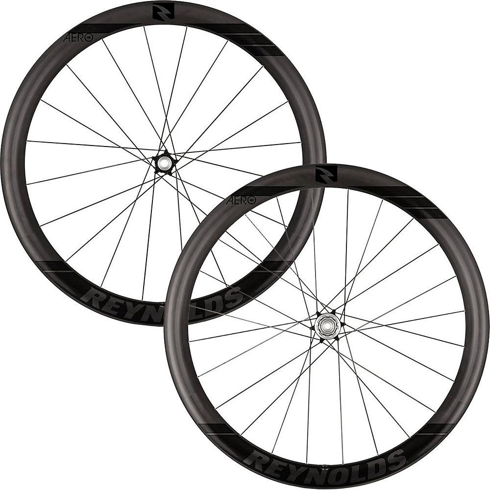 Image of Reynolds Aero 46 Black Label Carbon Disc Wheelset - Noir - Shimano, Noir