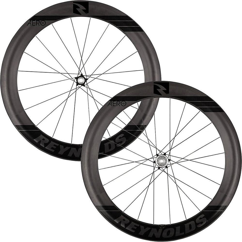 Image of Reynolds Aero 65 Black Label Carbon Disc Wheelset - Noir - Shimano, Noir