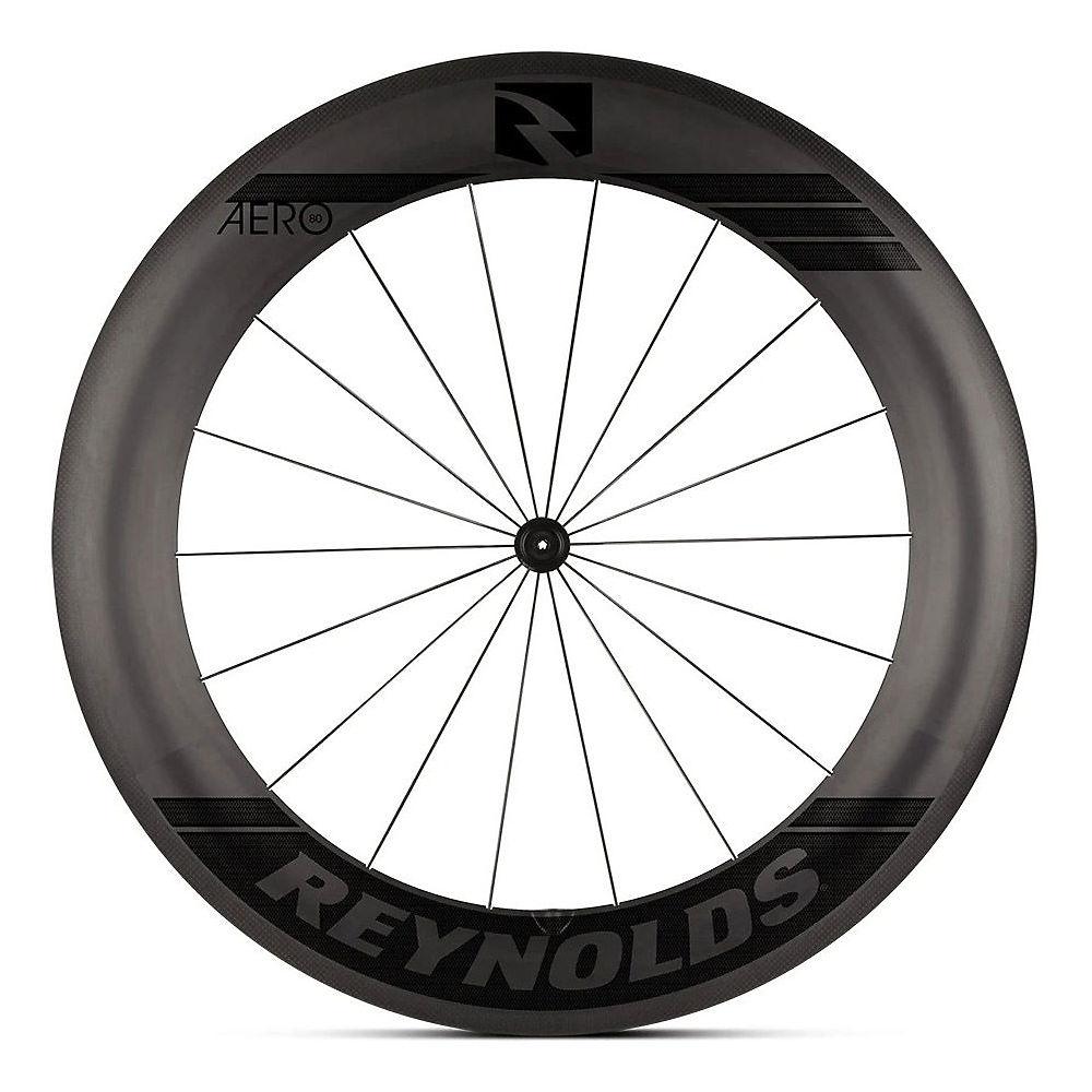 Image of Reynolds Aero 80 Front Carbon Road Wheel - Noir - Shimano, Noir