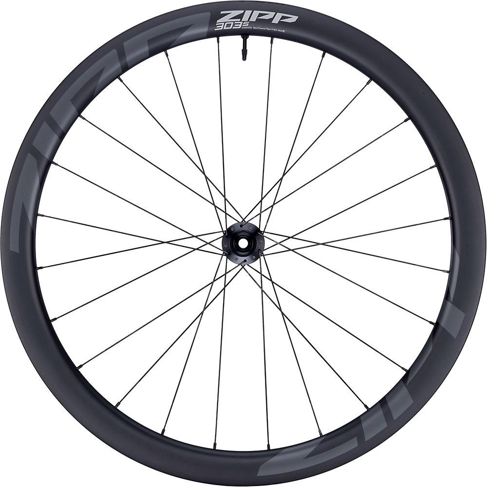 Zipp 303 S Carbon Disc Front Road Wheel - Black - 700c, Black