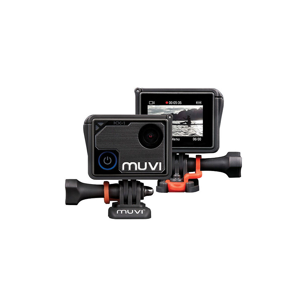 Image of Veho Muvi KX1 Handsfree 4K Action Camera - Black- Charcoal Grey, Black- Charcoal Grey