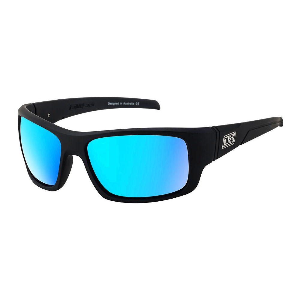Image of Dirty Dog Stray Satin Polarised Sunglasses - Grey Ice Blue Mirror, Grey Ice Blue Mirror