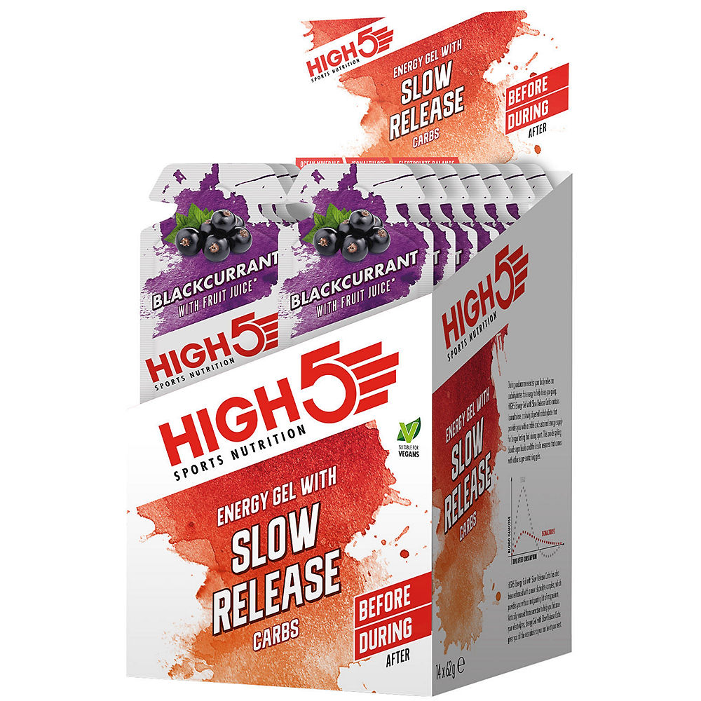 Image of HIGH5 Energy Gel with Slow Release (14 x 62g) - 14x62g