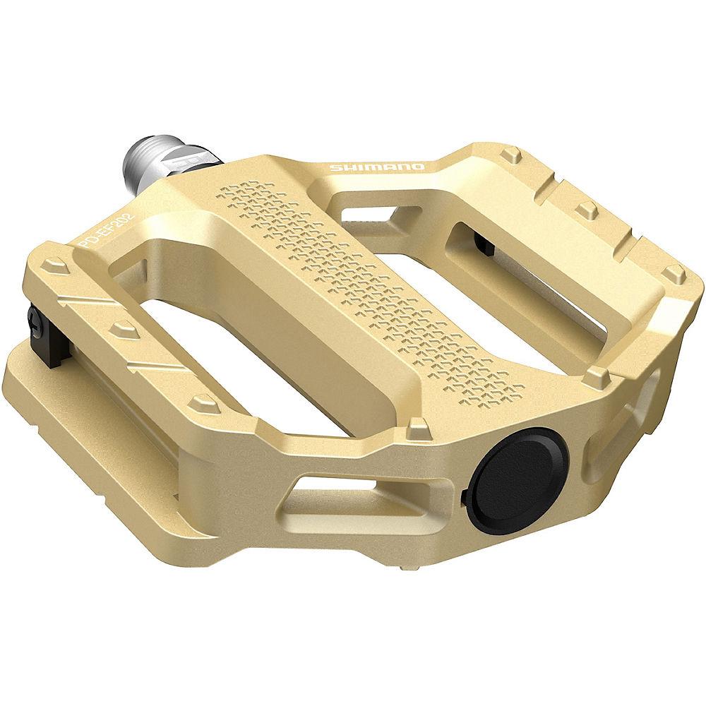 Shimano EF202 MTB Flat Pedals - Gold, Gold