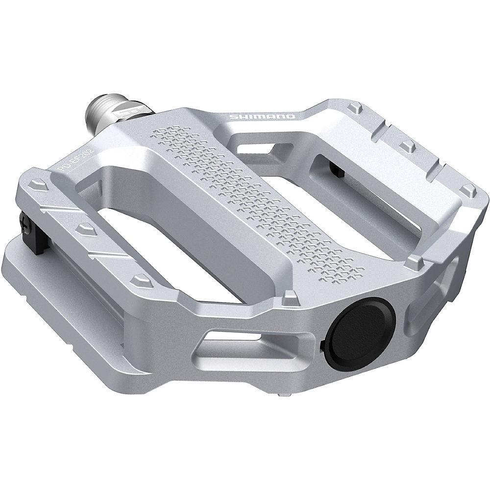 Shimano EF202 MTB Flat Pedals - Silver, Silver