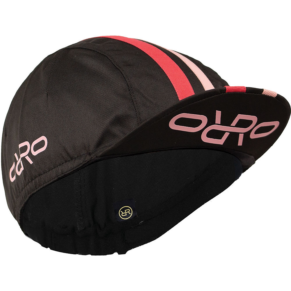 Image of Orro Cycling Cap - Noir/Rose - One Size, Noir/Rose