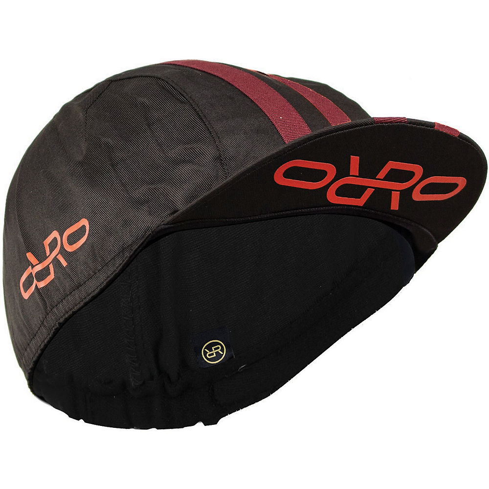Image of Orro Cycling Cap - Noir/Rouge - One Size, Noir/Rouge