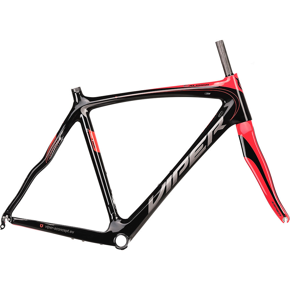 "Image of Viper Galibier Road Frameset - Noir - Rouge - 56cm (22""), Noir - Rouge"