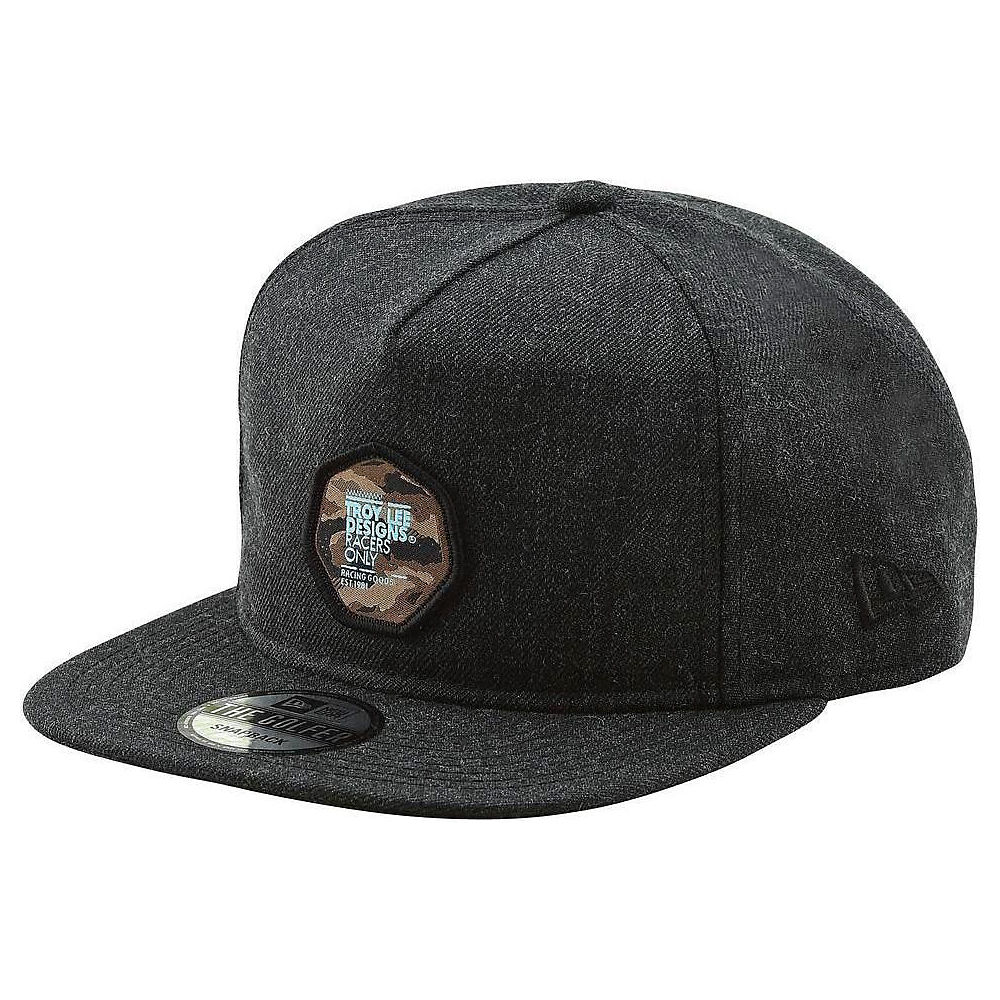 Troy Lee Designs Race Camo Snapback  - Negro - One Size, Negro