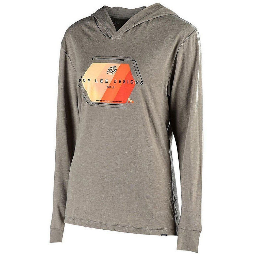 Troy Lee Designs Womens Technical Fade Pullover  - Gray, Gray