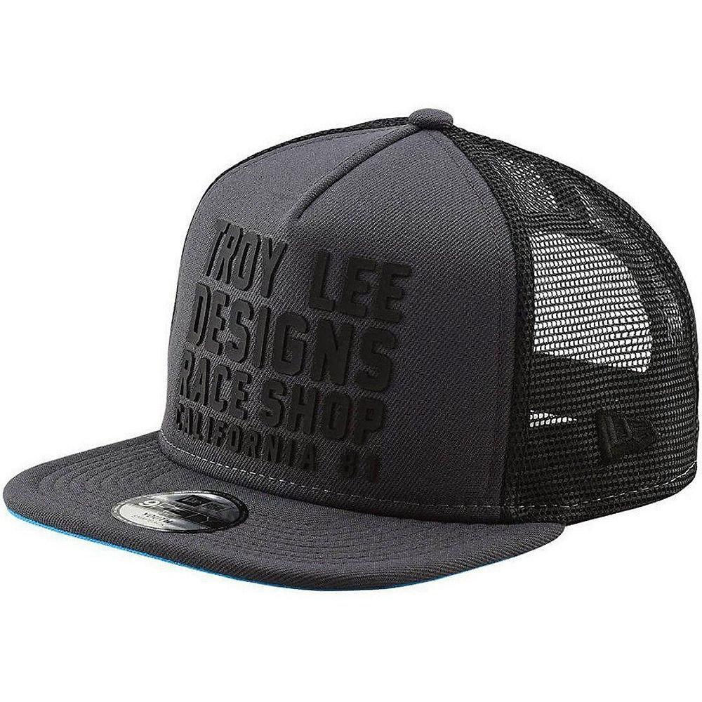 Troy Lee Designs Youth Cali Snapback  - Graphite-Blue - One Size, Graphite-Blue