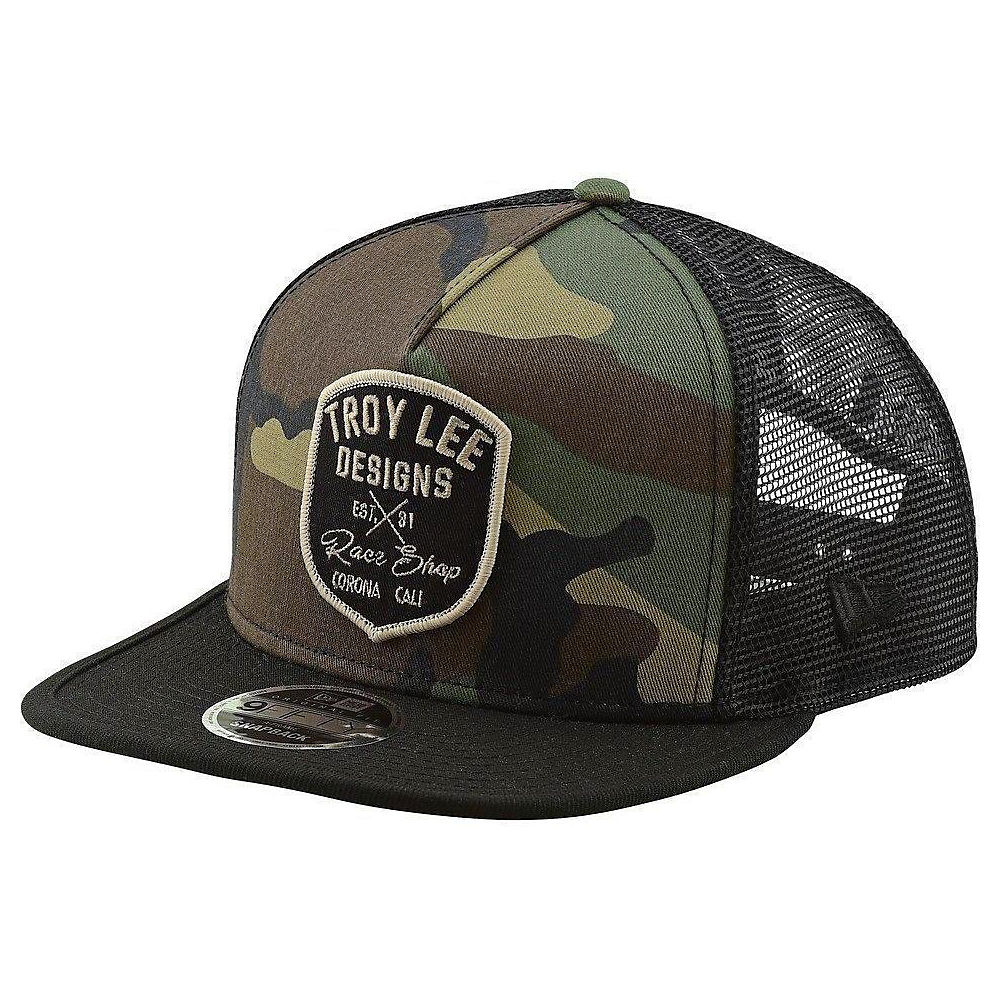 Troy Lee Designs Vintage Race Shop Snapback  - Army - One Size, Army