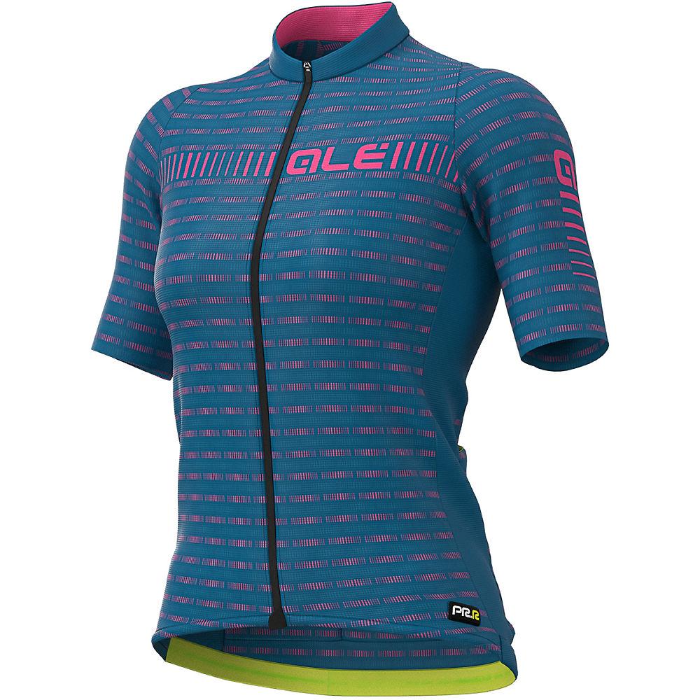 Ale Womens Prr Green Road Jersey  - Azzure Blue- Fluro Pink - Xl  Azzure Blue- Fluro Pink