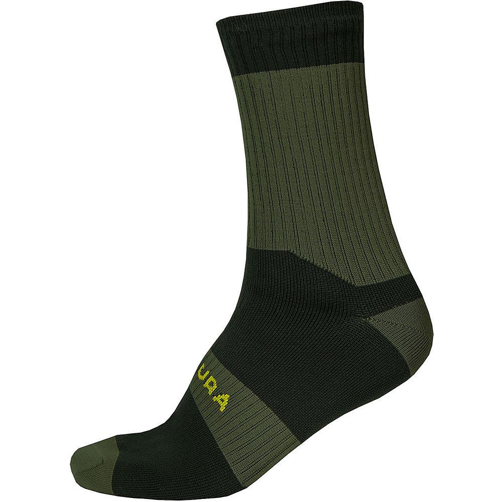 Endura Hummvee Waterproof Socks II 2020 - Verde - S/M, Verde