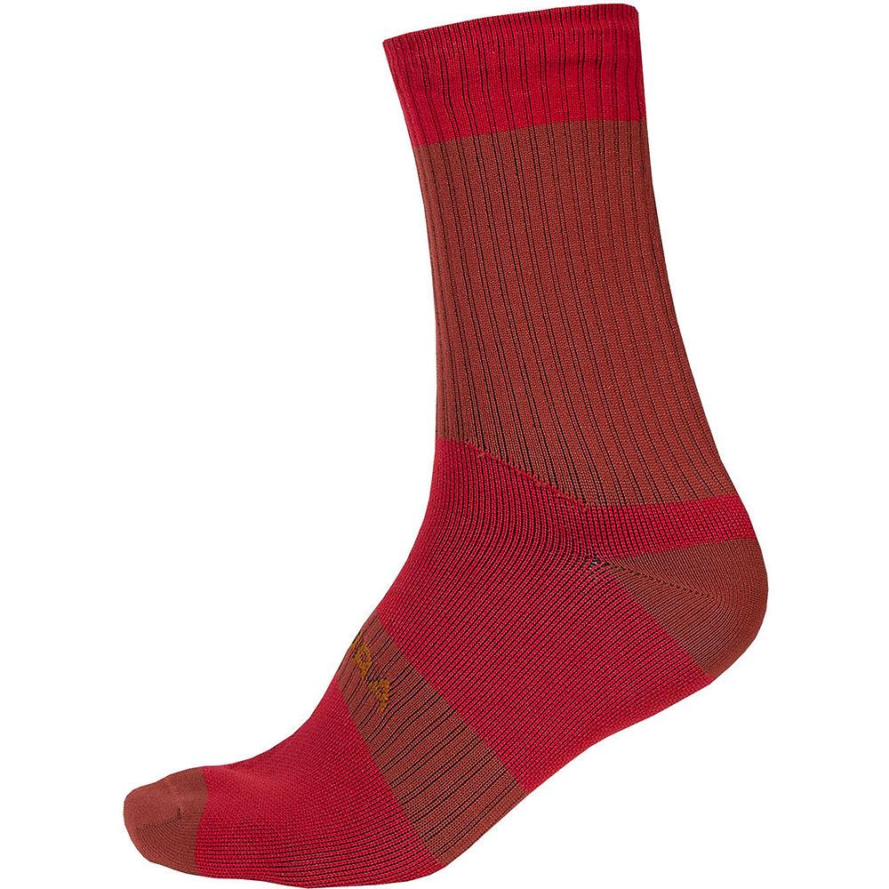 Endura Hummvee Waterproof Socks II 2020 - Rust Red - S/M, Rust Red